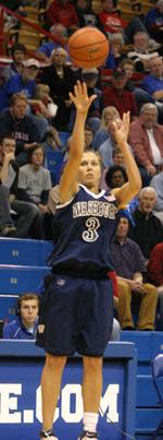 Washburn senior guard Cindy Keeley scored 15 points against KU Sunday.