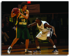 Mamadou+Sy%2C+junior+forward%2C+guards+Matt+Habermehl%2C+Missouri+Southern+senior+forward.+Missouri+Southern+led+the+entire+game+ending+in+a+79-70+loss+for+the+Ichabods.%0A