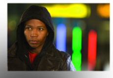 Presley Chweneyagae (pictured) plays Tsotsi, a gang member who gets more than he bargains for after stealing a car.