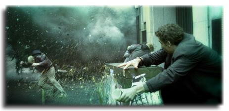 Street terror Theo (Clive Owen) is an innocent bystander during a bomb attack. Children of Men is excellently crafted, said reviewer Melissa Treolo.