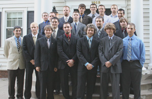 Band of Brothers Colonized in 2005, Delta Chi is hoping to establish itslef on campus by becoming chartered in the near future.