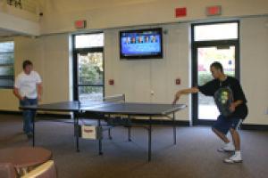 Pingpong play among students dominates Union basement