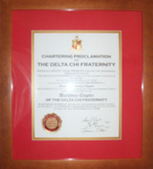 Delta Chi fraternity receives charter