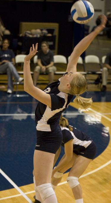 Caitlin Conley had one of the best performances of her WU career, making the Fall Classic all-tournament team.