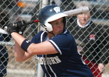 All-MIAA first baseman Dani White is nearing the Lady Blues' all-time homerun record in her senior season.