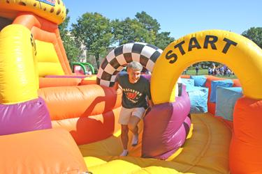 VIDEO: Families play at Family Day...