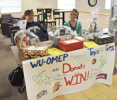 Tickets for toys WU's chapter of OMEP gives the WU community to put a smile on a child's face with toy donations. Donators received tickets for a chance to win baskets.