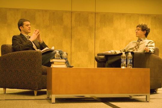 Debating the Resurrection New Testament historian Michael Licona, left, and historian Richard Carrier, right, debate the resurrection of Jesus Christ. The event was hosted by Washburn's Christian Challenge and the Atheist Community of Topeka.