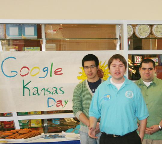 Google-y+Eyed+Josh+Maples%2C+executive+director+of+CAB%2C+opens+the+festivities+of+Google%2C+Kansas+Day+at+an+informational+press+conference.+The+event+was+held+to+gain+support+for+Think+Big+Topeka+in+its+efforts+to+bring+the+Google+Fiber+Experiment+to+Topeka.%0A