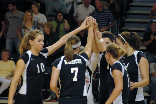Washburn flip-flopped in the AVCA rankings with Central Missouri after defeating the Jennies 3-1 on Friday.