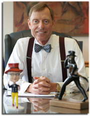 The man behind the bowtie Jerry Farley has been president of Washburn University since 1997. He plans on staying an Ichabod as long as possible.