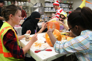Ceramics group throws Halloween party