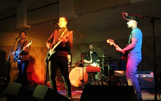 Rock band Starlume plays in the Washburn room Thursday night as part of no name calling week. The band is originally from Nashville, Tenn. and tours throughout the Midwest and Southern United States.