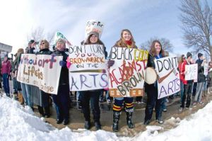PHOTOS: Rally protests proposed Brownback art cuts