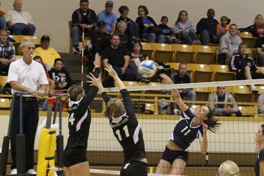 Lady Blues Volleyball splits weekend matches