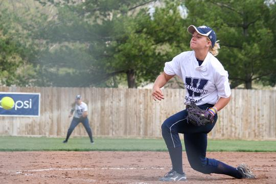 Breaking+Even+Freshman+pitcher+Kayla+Oldham+unleashes+a+pitch+during+a+recent+game.%0A