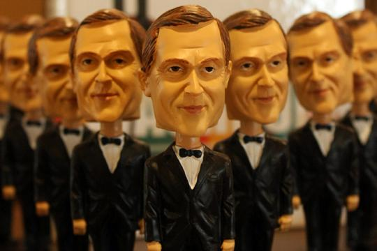 A Nod to History The bobbleheads are a model of Washburn President, Jerry Farley. They are a promotional gift with the purchase of a Kaw yearbook. The bobbleheads and the yearbook were unveiled on Monday.