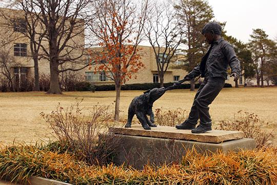Washburn's campus has yet to see any snow at 4 p.m. Wednesday, Feb. 20.