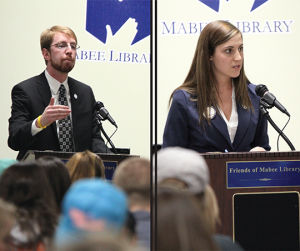Kitowski and Konkel debate in Mabee