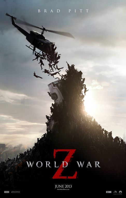 World War Z is a 2013 apocalyptic  horror film directed by Marc Forster that stars Brad Pitt.