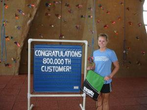 Student Wellness Recreation Center reaches 800,000th customer