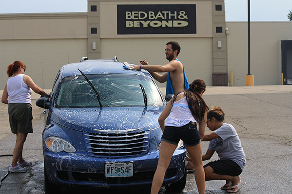Students from the Criminal Justice association gathered for a car wash in the parking lot of the Bed Bath& Beyond on Wanamaker. Proceeds benefitted the association itself, with funds specifically being allocated towards a group trip to Philadelphia.
