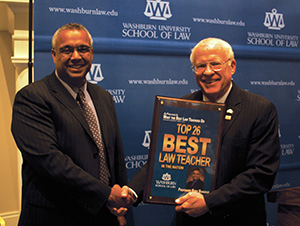 "Washburn Law celebrates ""Best Law Teacher"""