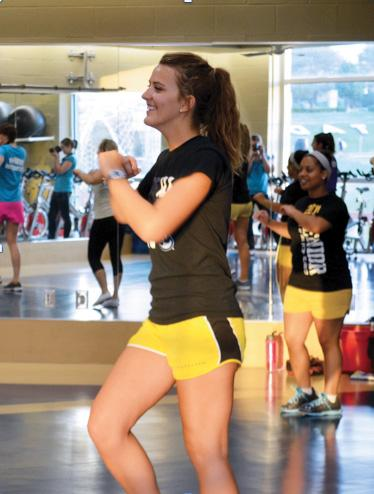 Students+have+fun+while+participating+in+a+Zumba+dance+routine.+Zumba+is+offered+Wednesdays+from+12%3A10-12%3A45+p.m.+and+Fridays+from+5%3A10-6%3A10+p.m.%C2%A0