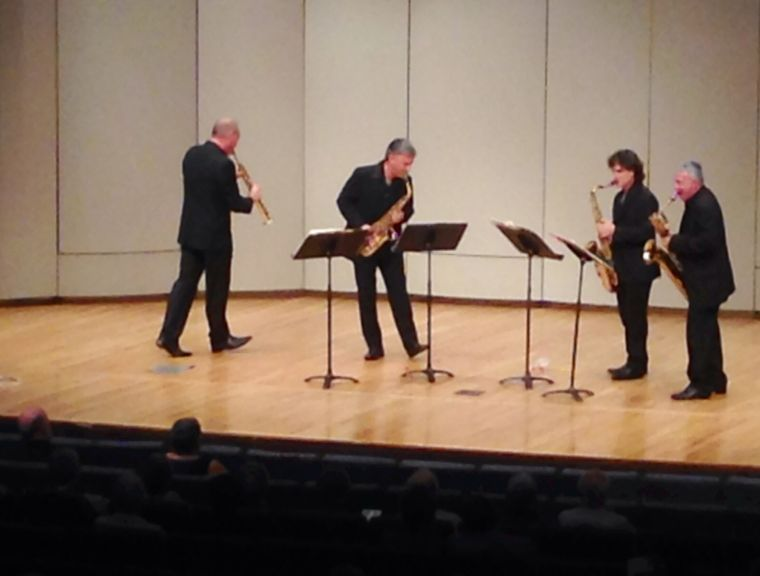 The Italian Saxophone Quartet performed Thursday evening at White Concert Hall.