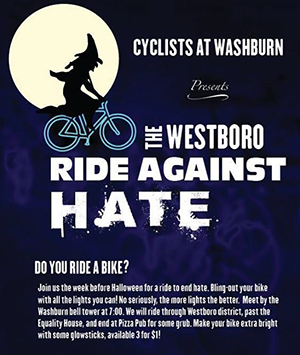 Cyclists ride against hate