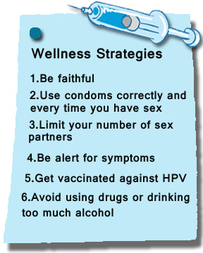 Ways to prevent HVP.