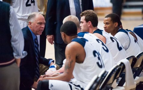 After a breakout 2012-13 season, far right, junior guard Kyle Wiggins is leading the team in points, assists, and steals per game. Center,junior forward Alex North is having the best season of his college career.
