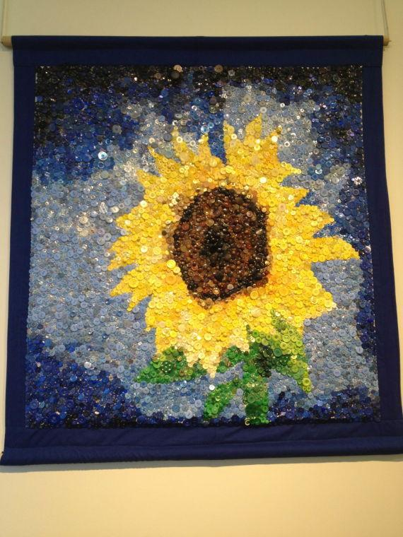 'Sunflower' by Linnzi Fusco can be seen at the Washburn University Art building this week.
