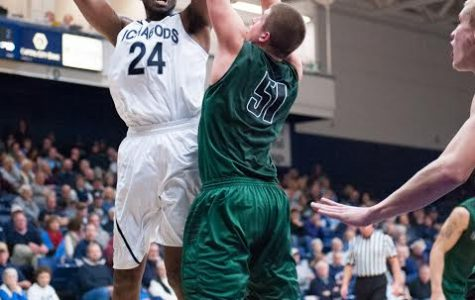 Stephon Drane goes up for a shot against Northwest Missouri State University. Drane transferred from Western Kentucky to become an Ichabod.
