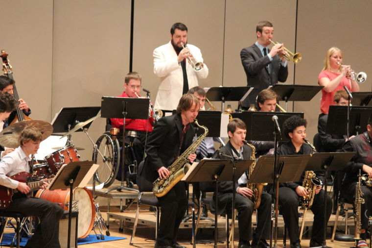 As the Jazz band gets intorhythm, the saxophone takes center stage.