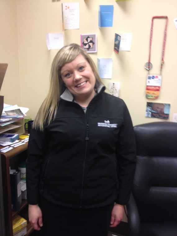 Jen Blackburn is the house director of the Phi Delta Theta fraternity. Along with her duties at the house, she also works for Residential Living.