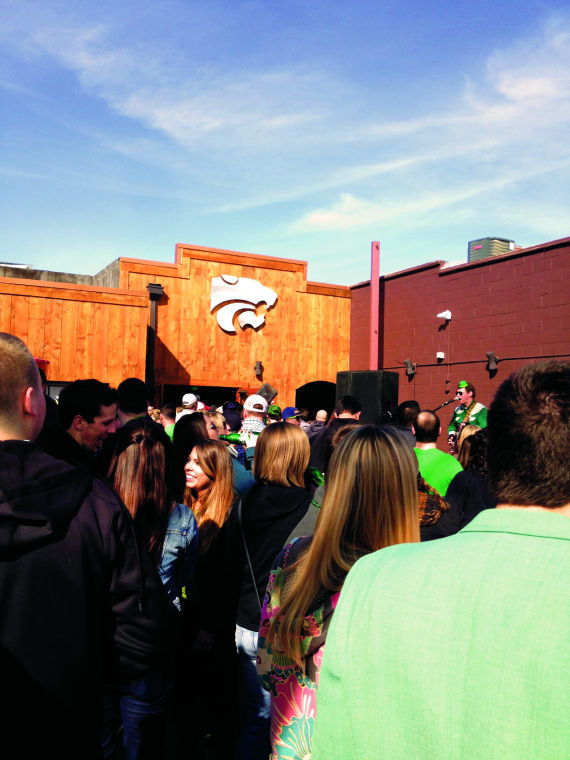 Aggieville turns green for Fake Patty's Day
