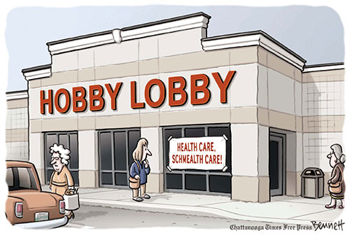 Hobby Lobby is only contributing to an employee's health insurance; therefore Hobby Lobby is not paying for contraception. Women who have the insurance plan chose to use contraception.