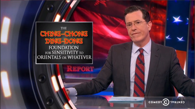 "Nobody, least of all Colbert, was really supporting the ""Ching Chong Ding Dong Foundation for Sensitivity to Orientals or Whatever,"" but the ""Redskins"" remain a team in a professional league with merchandise selling a racist name that has lasted too long."