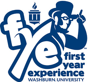 """First Year Experience supports the academic, social and personal transitions of all first-year students. Through collaborative efforts with faculty, staff and peer educators, we empower and support first-year students by providing intentional courses, programs and services that promote success and persistence in college. The Washburn FYE program seeks to help students begin the process of becoming information literate to promote student success in the Information Age.""-FYE Mission"
