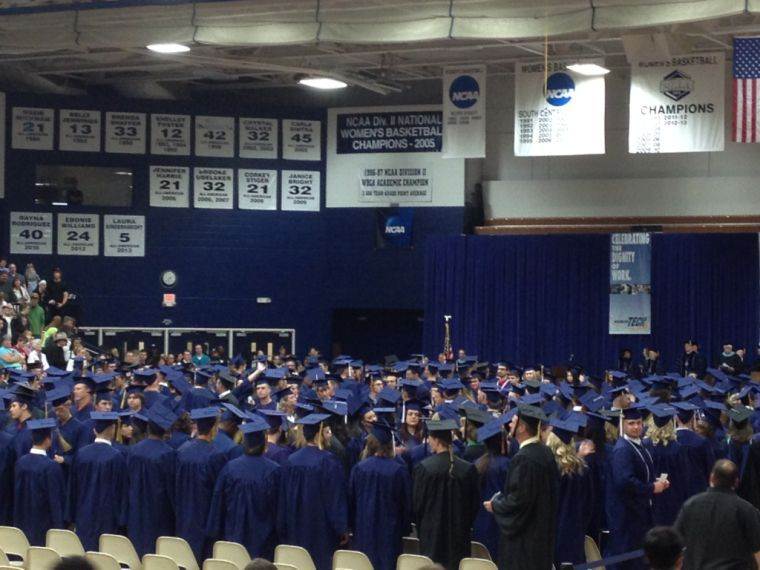 Washburn+Tech+had+its+commencement+ceremony+May+15+in+Lee+Arena.+This+year%27s+graduates+was+WU+Tech%27s+largest+graduating+class+ever.