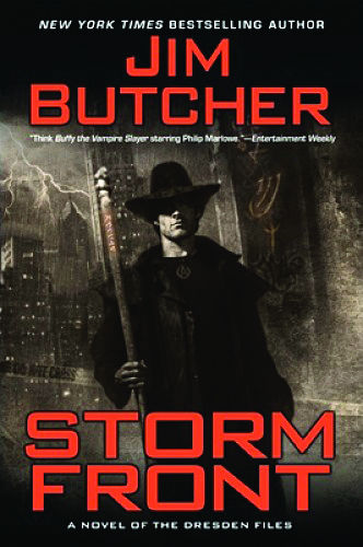 "In Jim Butcher's book, ""Storm Front,"" Harry Dresden is a professional wizard and P.I. in modern Chicago. ""Storm Front"" is the first in a series of books titled, ""The Dresden Files."" The series currently consists of 15 books, beginning with ""Storm Front"" which was published in 2000."