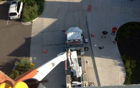 The view from atop the Westar truck when the lift was fully extended was staggering and not for the faint of heart.
