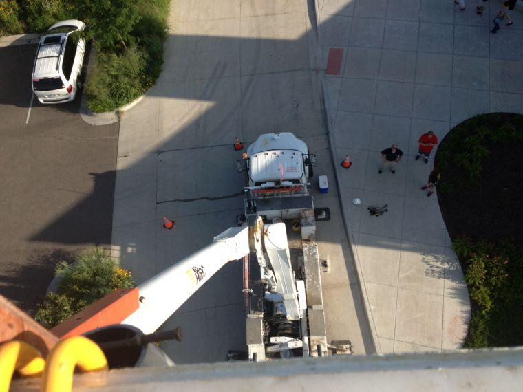 The+view+from+atop+the+Westar+truck+when+the+lift+was+fully+extended+was+staggering+and+not+for+the+faint+of+heart.