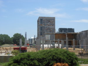 Morgan Hall construction continues