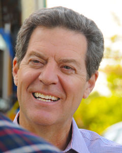 Kansas+Gov.+Sam+Brownback+speaks+to+the+Washburn+Review+about+his+re-election+bid.+Brownback+is+currently+in+a+tight+race+against+Dem.+Paul+Davis.