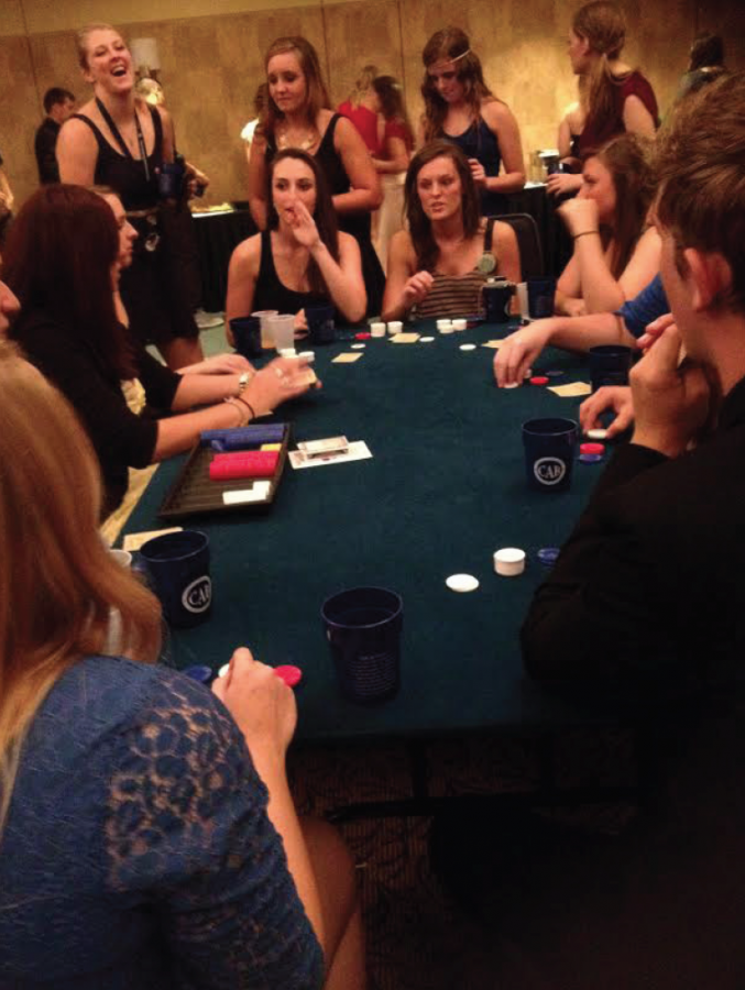 Gambling Away: Casino Night kicked off as part of Washburn's Wel­come Week activities last Saturday night. Ichabods played at different tables for a chance to win prizes.