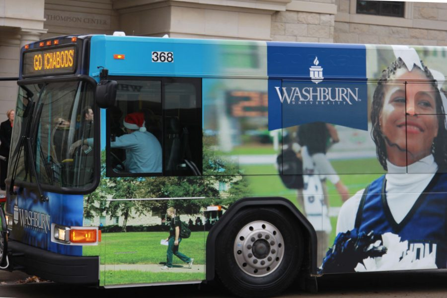 Washburn University and the Topeka Metro Transit Authority unveiled a new Ichabod-themed bus on Thursday, Dec. 11. The bus marks a partnership between the two that will provide free rides for students, faculty and staff.