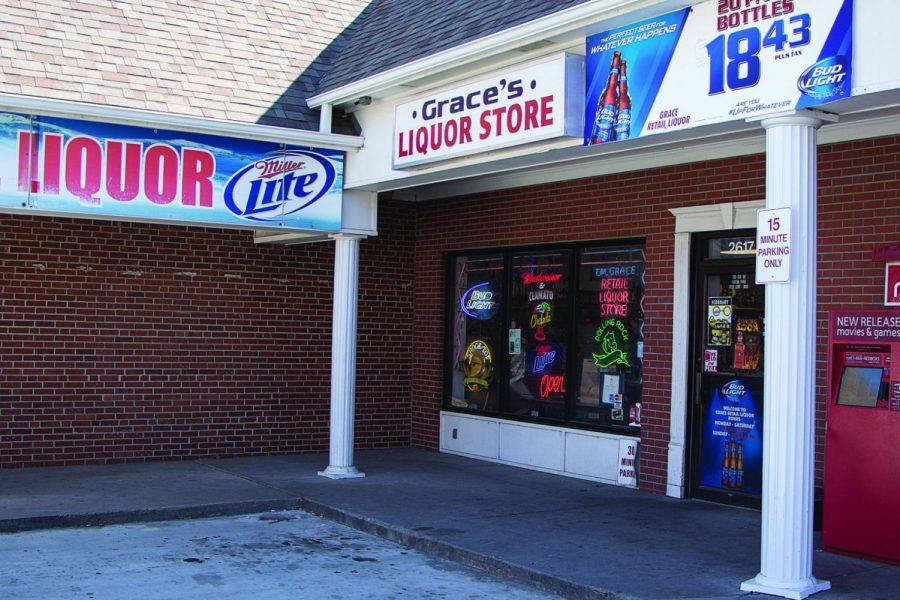 Uncorking Liquor Sales: Grace's Retail Liquor, located at 2617 SW 21st St., is among Topeka's many liquor stores that could see increased competition if Kansas passes legislation allowing liquor sales in grocery stores.