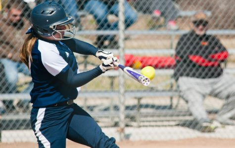 SWINGING FOR THE FENCE: Cassidy Merriman takes a swing. Merriman had one home run.